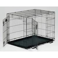 """Midwest Life Stages Double Door Dog Crate Black 30"""" x 21"""" x 24"""""""
