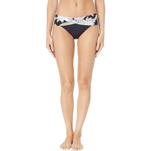 Bleu Rod Beattie Women Swimwear Black White Size 14 Floral Bikini Bottom