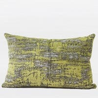 "G Home Collection Luxury Lemon Yellow Mix Color Metallic Chenille Pillow 14""X20"""