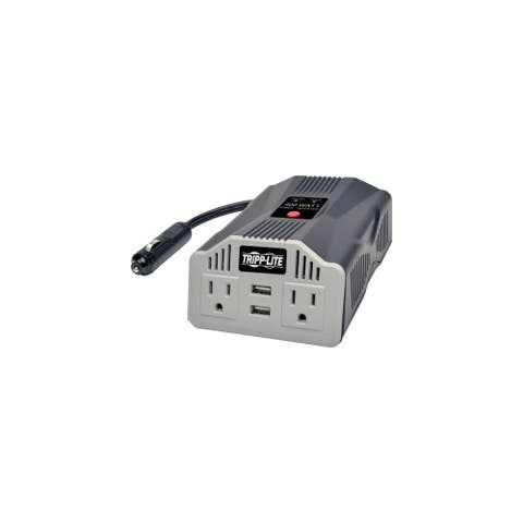 Tripp Lite PV400USB Tripp Lite PowerVerter Ultra Compact Car Inverter with Outlets - Input Voltage: 12 V DC - Output Voltage: