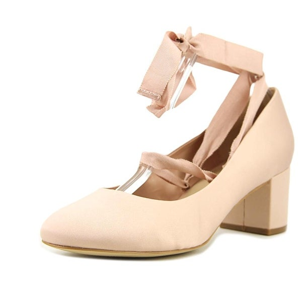 Aldo Kaylle Women Round Toe Canvas Pink Heels