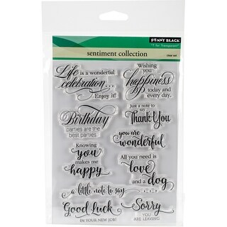 """Sentiment Collection - Penny Black Clear Stamps 5""""X7"""""""