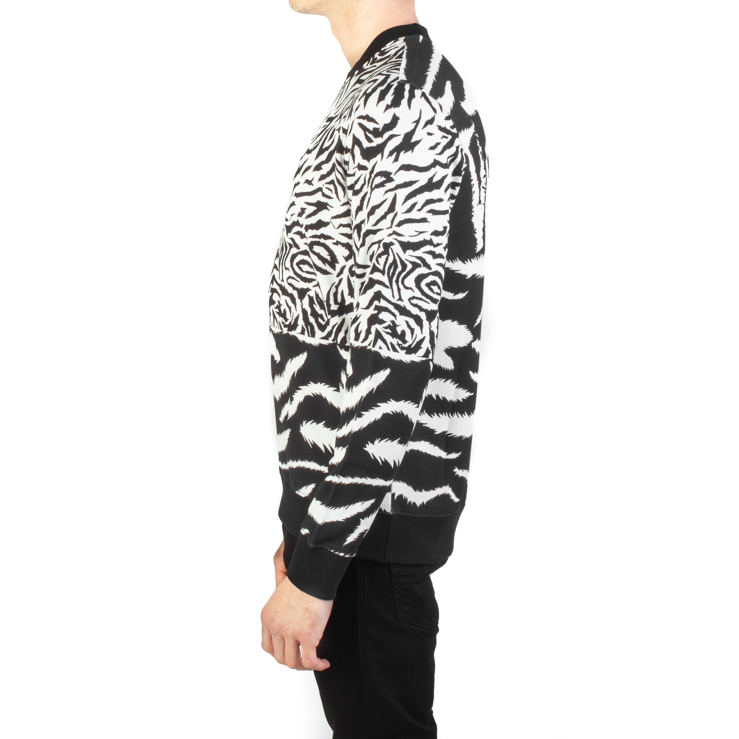 aea45b24 Versace Versus Men's Cotton Zebra Print Sweatshirt White Black