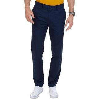Nautica Mens Big & Tall Marina Chino Pants Khaki Pants Flat Front - 54/32
