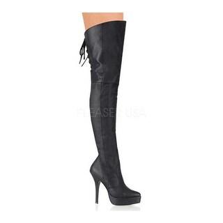 Pleaser Women's Indulge 3011 Black Pig Leather