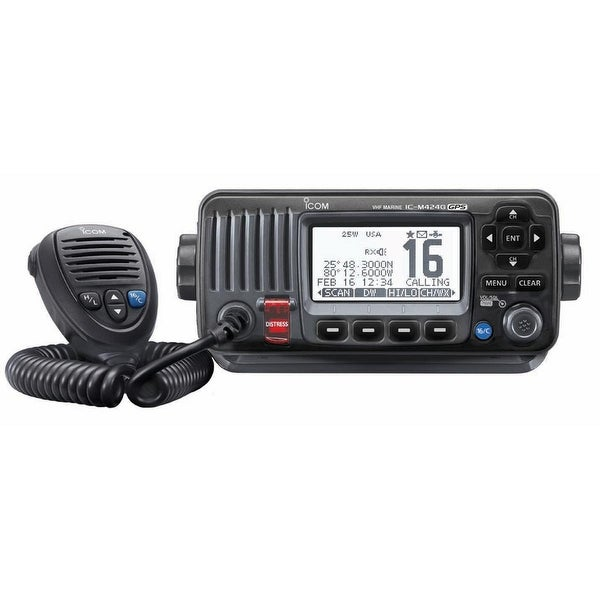 Icom M424G Fixed Mount VHF Marine Transceiver w/Built-In GPS