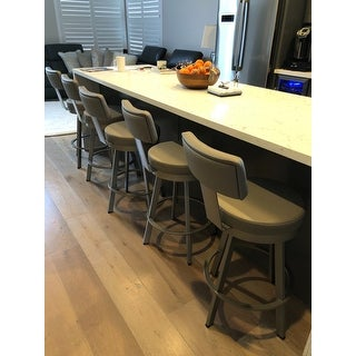 Shop Amisco Tower 26 Inch Metal Swivel Counter Stool