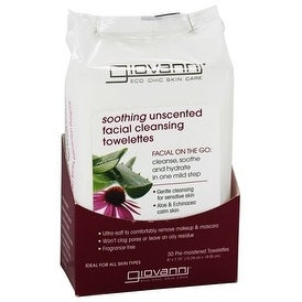 Giovanni Facial Cleansing Towelettes (Soothing) Fragrance Free 30-count