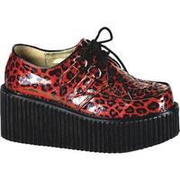 Demonia Women's Creeper 208 Red Cheetah Glitter