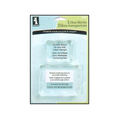 93625 inkadinkado clear stamp block small medium