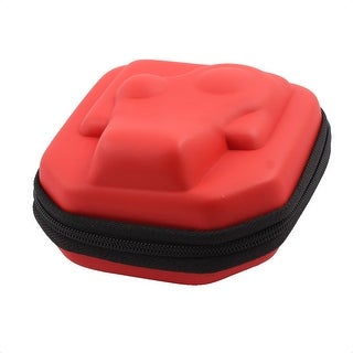 Outdoor Travel PU Universal Zipper Design Protective Storage Box Camera Case Red