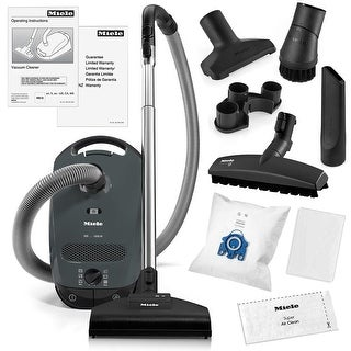 Miele Classic C1 Capri Canister Vacuum Cleaner + STB 205-3 Turbobrush + SBB-3 Parquet Floor Brush + More