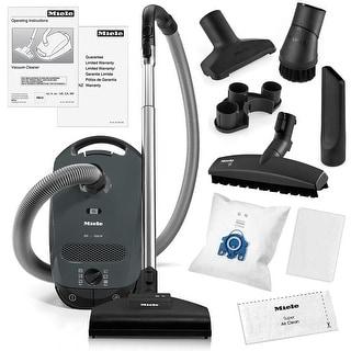 Miele Classic C1 Capri Canister Vacuum Cleaner + STB 205-3 Turbobrush + SBB-3 Parquet Floor Brush + More