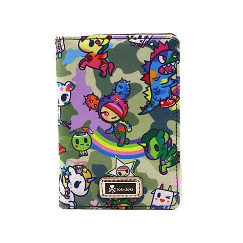 Tokidoki Camo Kawaii Passport Card Wallet - One Size Fits most