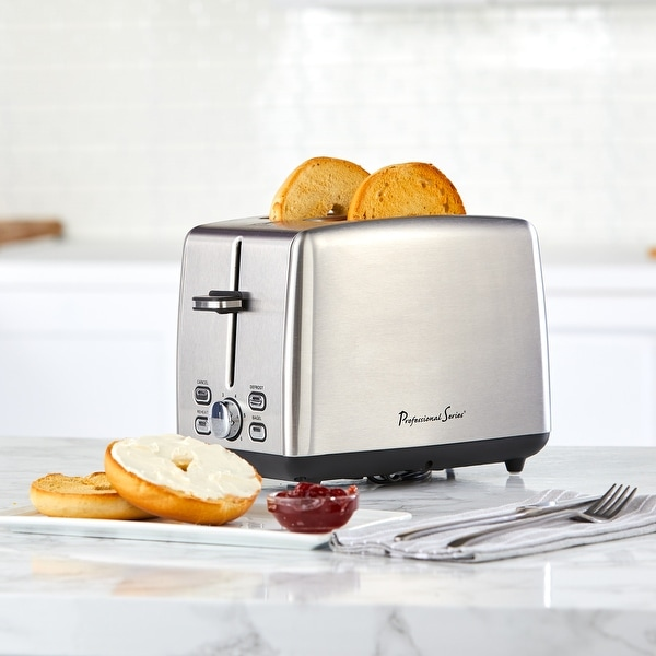 Professional Series 2-Slice Toaster Wide Slot Stainless Steel. Opens flyout.