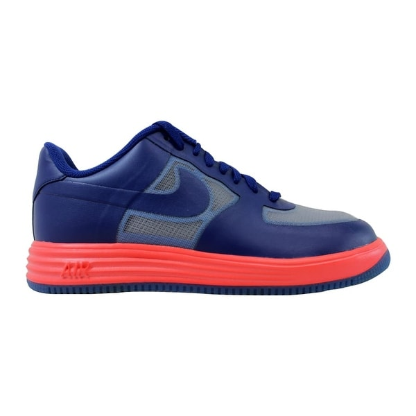 sports shoes 71655 028d7 Nike Lunar Force 1 Fuse Leather Wolf Grey Deep Royal Blue-Atomic Red 599839