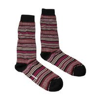 Missoni GM00CMU5236 0002 Pink/Cream Mixed Stripe Knee Length Socks - S