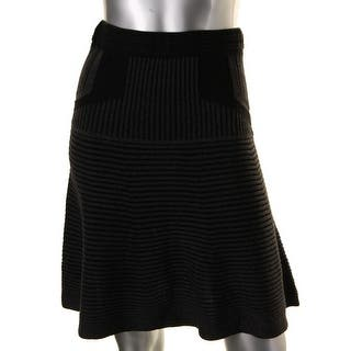 Studio M Womens Juniors Flounce Skirt Ribbed Knit STRETCH|https://ak1.ostkcdn.com/images/products/is/images/direct/b86fbf4f951219eb9e362c1648819ddc5a132c8a/Studio-M-Womens-Juniors-Ribbed-Knit-STRETCH-Flounce-Skirt.jpg?impolicy=medium