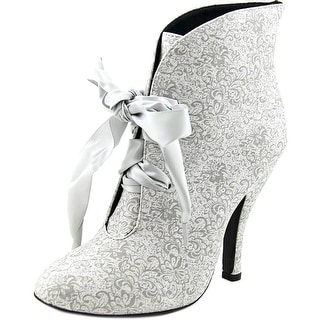 Dolce by Mojo Moxy Poppy Women Round Toe Synthetic Silver Bootie