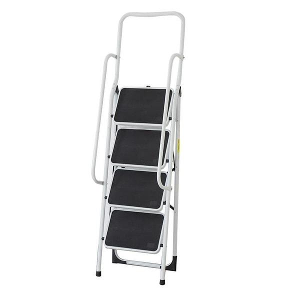 100ccea8cd Shop 4 Step folding portable Ladder with Standing Platform Handrail ...