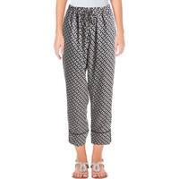 Lauren Ralph Lauren Womens Skinny Pants Pattern Drawstring