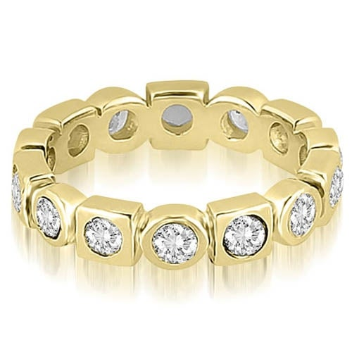 0.80 cttw. 14K Yellow Gold Round Diamond Eternity Ring