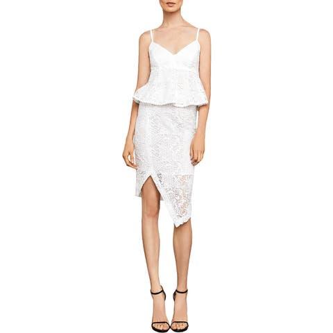BCBG Max Azria Womens Pencil Skirt Lace Asymmetric
