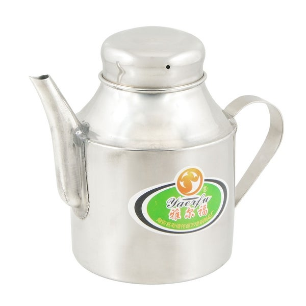 "Unique Bargains 3.3"" Base Kitchen Round Spout Design Stainless Steel Water Kettle Teakettle"