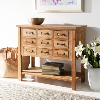 Link to Safavieh Mendie Natural Oak 9-Drawer Chest Similar Items in Living Room Furniture