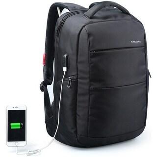 """Kingsons 15.6"""" grey smart backpack (Black)"""