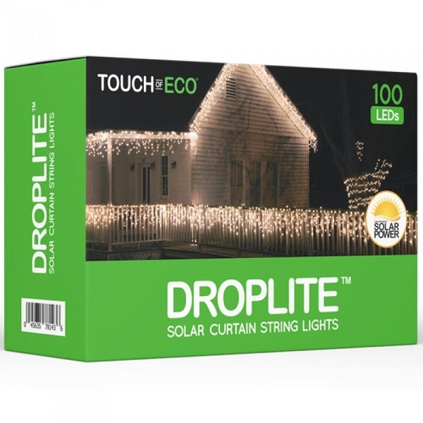 DROPLITE Solar Powered 100 LED Curtain String Lights
