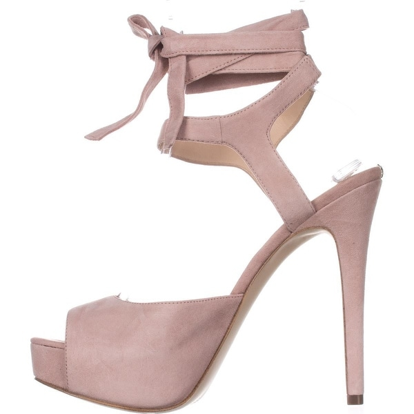 GUESS Womens Kassie Leather Peep Toe Special Occasion Platform Sandals