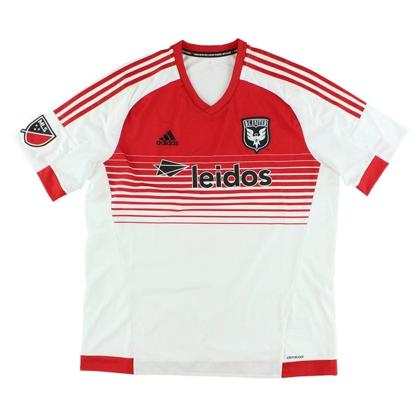 2efd2f57819 Shop Adidas Mens DC United MLS Replica Jersey Red - red/white - Free  Shipping Today - Overstock - 22614512