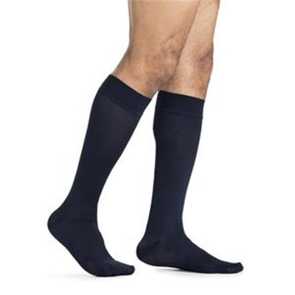 6927a1cfa7eb4 Shop Mens Midtown Microfiber Calf High Socks, Navy - Large Short ...
