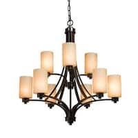 Artcraft Lighting AC1309 Parkdale Single-Tier Chandelier with 9 Lights - 28 Inches Wide