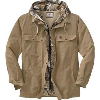 Legendary Whitetails Men's Voyager Hooded Shirt Jacket - Oak