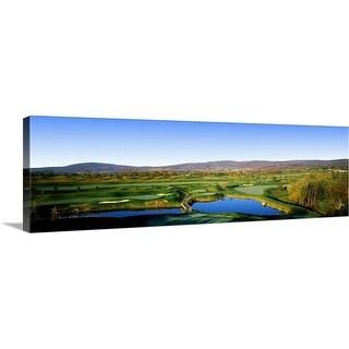 """Golf course, Musket Ridge Golf Club, Myersville, Frederick County, Maryland"" Canvas Wall Art"
