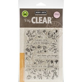 """Hero Arts Clear Stamps 4""""X6""""-You're Beautiful!"""