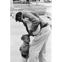 ''African American Man with Crying Child, 1962'' by McMahan Photo Archive Photography Art Print (10 x 8 in.)
