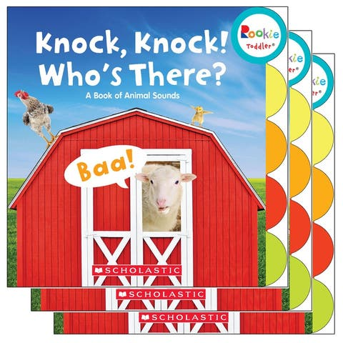 (3 Ea) Board Book Knock Knock Whos There Rookie Toddler