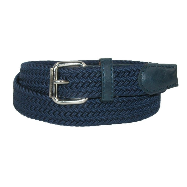CTM® Kids' Elastic Braided Stretch Belt