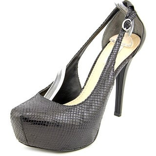 Guess Jacoba Open Toe Synthetic Platform Heel