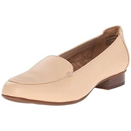 Clarks Womens Keesha Luca Leather Stacked Heel Loafers - 11 extra wide (e+, ww)