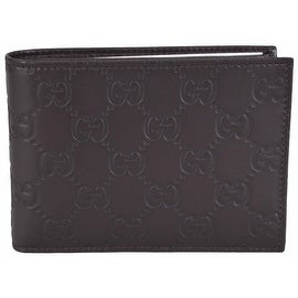Gucci Men's 292534 Brown GG Guccissima Leather W/Coin Large Bifold Wallet