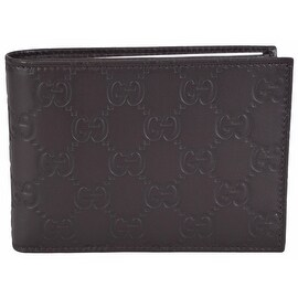 NEW Gucci Men's 292534 Brown GG Guccissima Leather W/Coin Large Bifold Wallet