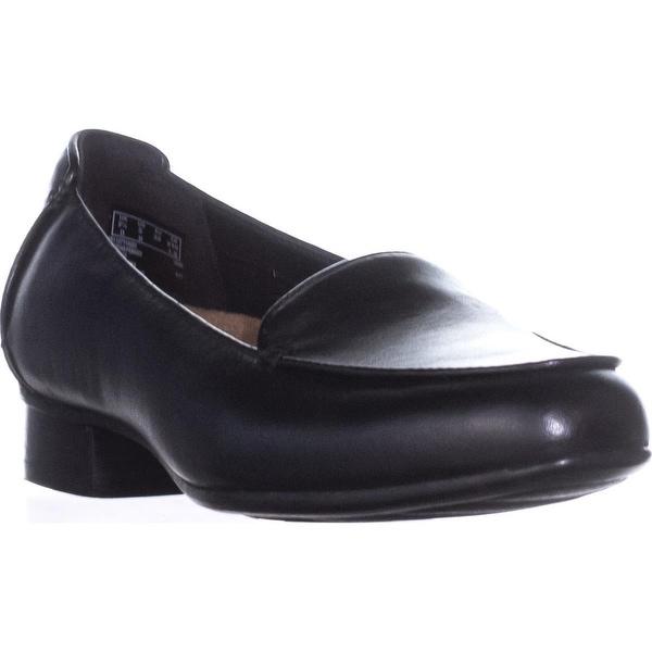 Clarks Keesha Luca Slip-On Flats, Black Leather2