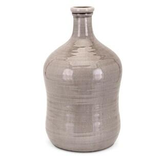 Glaze Textured Ceramic Large Vase, Beige