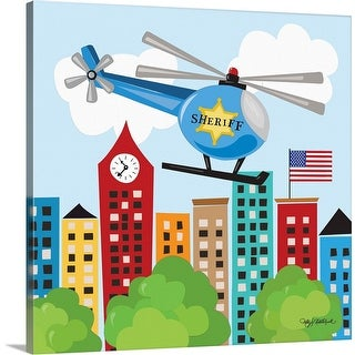 """Helicopter Rescue"" Canvas Wall Art"