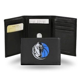 4 Black And White NBA Dallas Mavericks Embroidered Trifold Wallet N A
