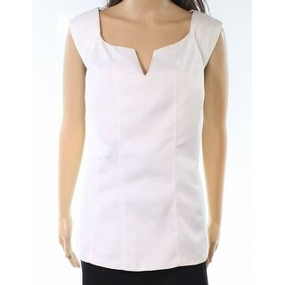 City Chic NEW White Womens 14 Plus Split Neck Sleeveless Satin Blouse